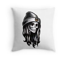 Crescent Moon Ghoulfriend Throw Pillow