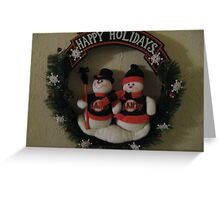 Happy Holiday's to all us Giants fans and players everywhere Greeting Card