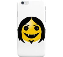 Long-Haired Vampire Smiley iPhone Case/Skin
