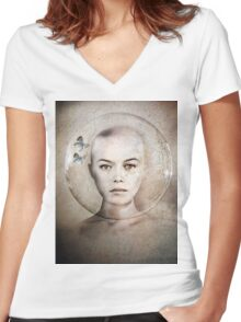 Inner World Women's Fitted V-Neck T-Shirt