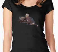 Celestial - I Love My Cat Top - Real Men Love Cats - T-Shirt Women's Fitted Scoop T-Shirt