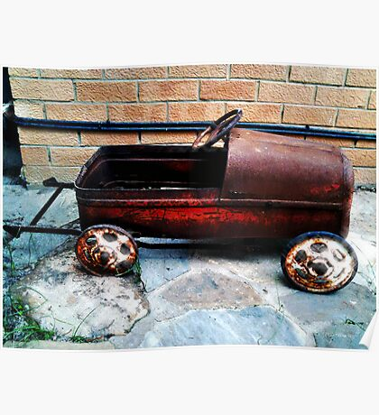 Rusty pedal car Poster