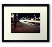 9th Avenue Time Lapse Framed Print