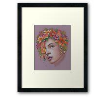 Goddess of Autumn Framed Print