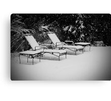Bed of Snow Canvas Print