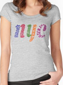 New York City Five Boroughs Typography Women's Fitted Scoop T-Shirt