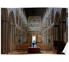 Rochester Cathedral Nave looking West HDR Poster