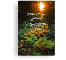 Going to the woods Canvas Print
