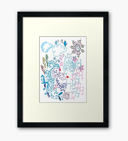 Day Dream fantasy Framed Print
