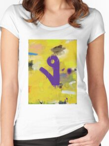 """Thai Characters """"ง"""" Women's Fitted Scoop T-Shirt"""