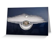 CarSnow: Stainless on Blue Greeting Card
