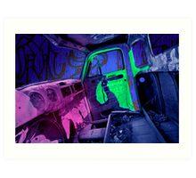 Edmonton Truck Digitally Colorized Art Print