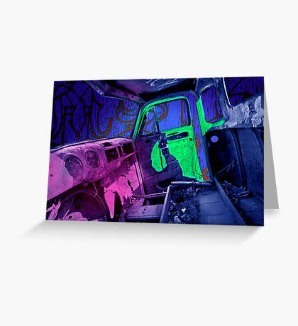 Edmonton Truck Digitally Colorized Greeting Card