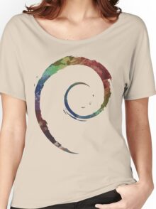 Colorful Debian Women's Relaxed Fit T-Shirt