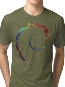 Colorful Debian Tri-blend T-Shirt