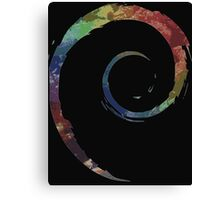 Colorful Debian Canvas Print