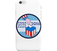 Vote 2016 Hand Ballot Box Circle Etching iPhone Case/Skin
