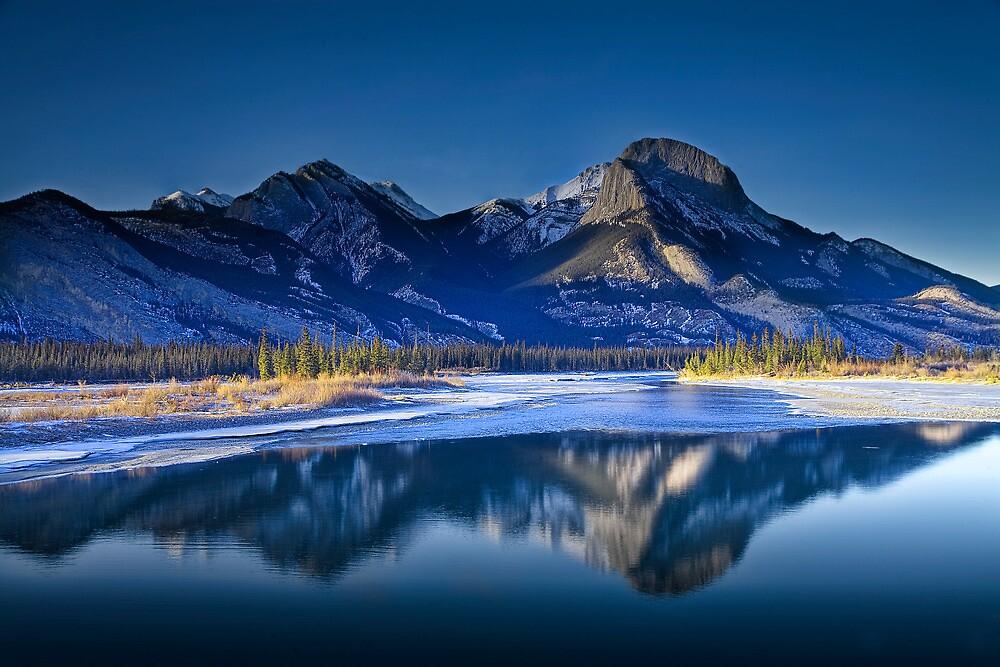 Jasper Nat Park Mountains 0017 by Randall Nyhof