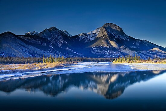 Jasper Nat Park Mountains 0017 by Randall Nyhof