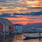 Last Light at Peggy&#x27;s Cove by Randall Nyhof
