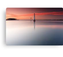 Dawn at Port Melbourne #1 Canvas Print