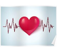 Heart and pulse Poster