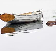 Maine White Boat by Randall Nyhof
