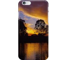 Ripples of golden sunset iPhone Case/Skin