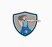 Highland Games Stone Put Throw Crest Retro Unisex T-Shirt