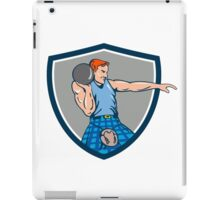 Highland Games Stone Put Throw Crest Retro iPad Case/Skin