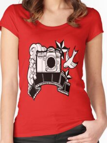 Camera Tattoo Women's Fitted Scoop T-Shirt