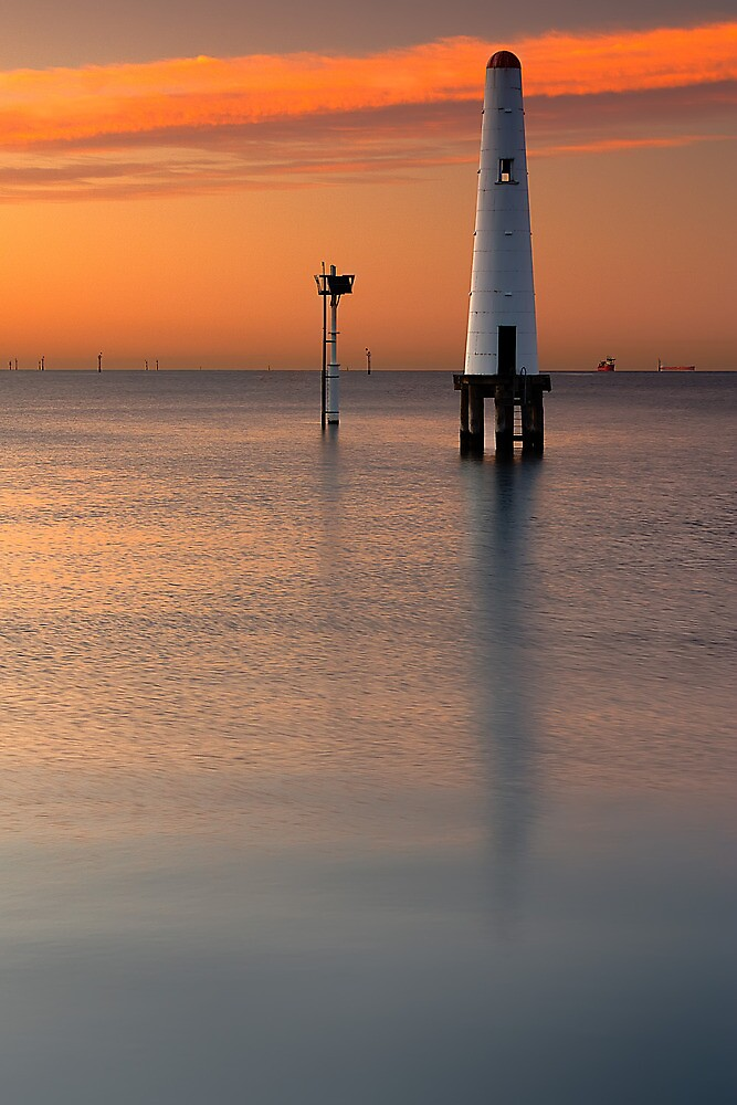 Dawn at Port Melbourne #2 by Jason Green