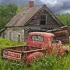 Old Abandoned Homestead and Truck by Randall Nyhof