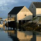 Peggy&#x27;s Cove Fisherman&#x27;s Wharf 057 by Randall Nyhof