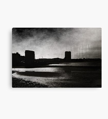 On Margate sands I can connect nothing with nothing Canvas Print