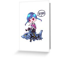 mini LoL 5-Jinx Greeting Card