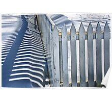 Picket Fence in Winter 1442 Poster