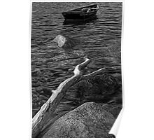 Row Boat 202 BW Poster