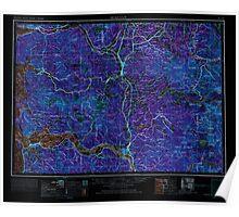USGS Topo Map Washington Hoquiam 239709 1958 250000 Inverted Poster