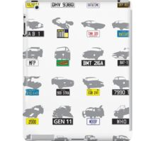 TV & Film cars and number plates poster I iPad Case/Skin