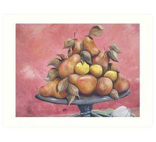 lemons and pears Art Print