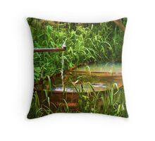 Country Fountain Throw Pillow