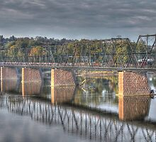 Walnut Street Walking Bridge by Sharon Batdorf