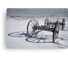 Wagon Chassis at Fayette MI 184 Canvas Print
