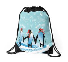 Merry Christmas from South Pole Drawstring Bag