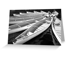 Whistler Canoes 963 BW Greeting Card
