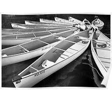 Whistler Canoes 963 BW Poster