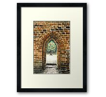 Castles were built a stone at a time Framed Print