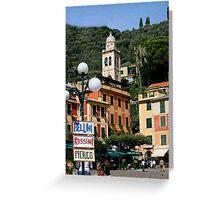 Portofino Piazza Greeting Card