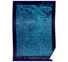 USGS Topo Map Washington Pomeroy 243190 1937 96000 Inverted Poster
